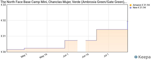 The North Face Base Camp Mini, Chanclas Mujer, Verde (Ambrosia Green/Gate Green), 41 EU
