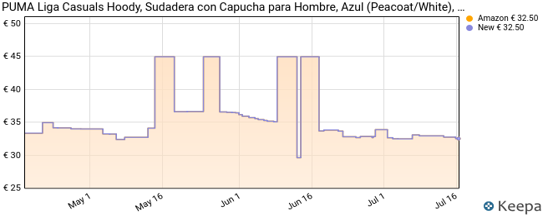 PUMA Liga Casuals Hoody, Sudadera con Capucha para Hombre, Azul (Peacoat/White), L