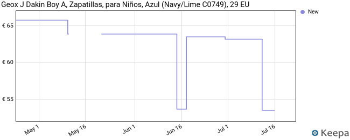 Geox Jr Dakin, Zapatillas para Niños, Azul (Navy/Lime C0749), 29 EU