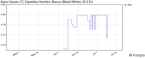Asics Classic CT, Sneaker Hombre, Black/White, 43.5 EU