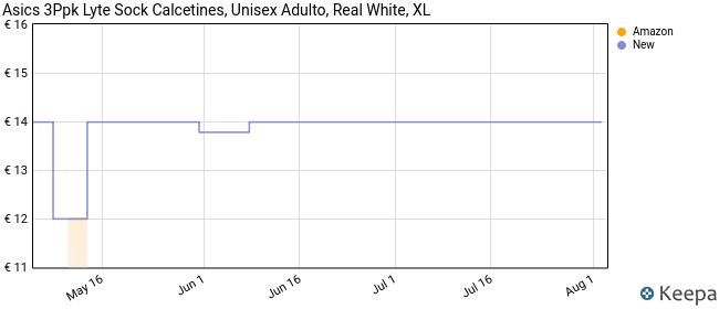 Asics 3Ppk Lyte Sock Calcetines, Unisex Adulto, Real White, XL