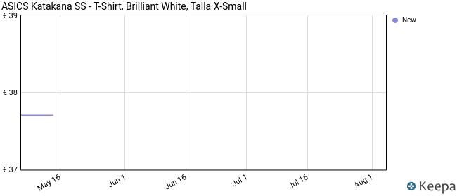 ASICS Katakana SS - T-Shirt, Brilliant White, Talla X-Small
