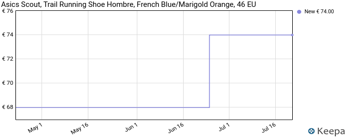 Asics Scout, Trail Running Shoe Hombre, French Blue/Marigold Orange, 46 EU