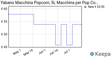 Prezzo Yabano Macchina Popcorn, 5L Macchina per